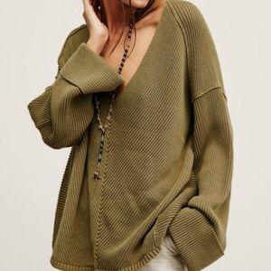 Free People Brea Sweater Olive Green